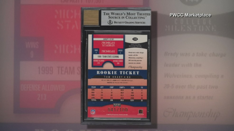 Tom Brady Rookie Trading Card Sells For Record Amount Wjar