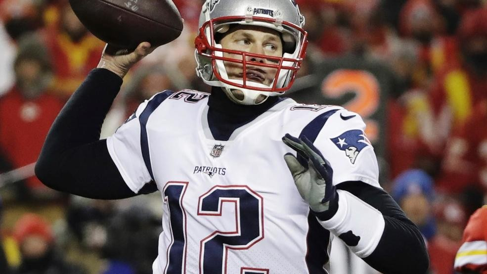 New England Patriots quarterback Tom Brady (12) throws a pass during the  second half of the AFC Championship NFL football game against the Kansas  City ... 02ea22259