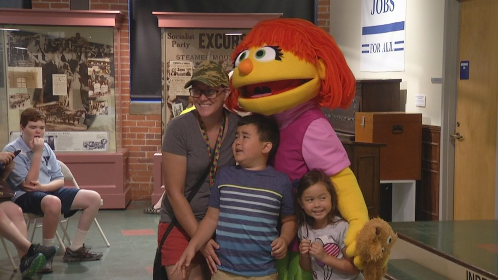 Julia of 'Sesame Street' visits Museum of Work and Culture