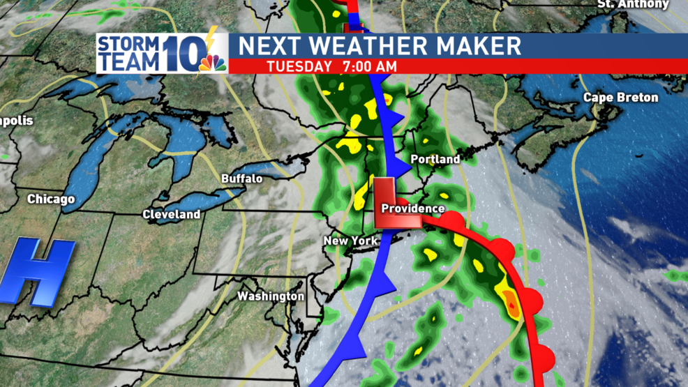 Showers, thunderstorms, tonight into Tuesday | WJAR