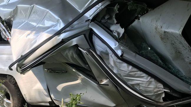 Truck apparently crushed under I-195 overpass | WJAR