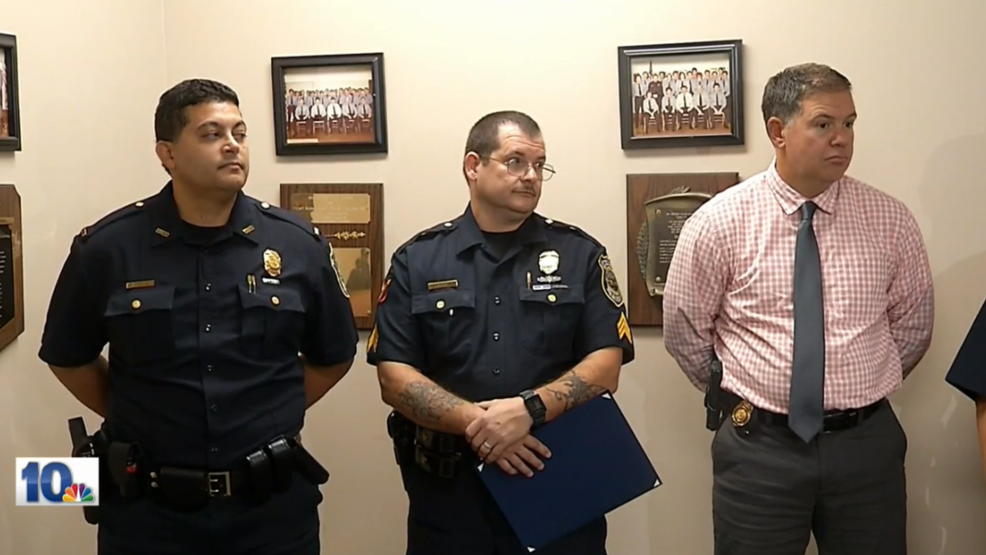 New Bedford officer honored for saving a life while grocery