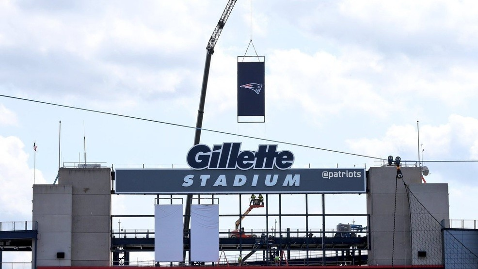bbd7650ce4252 The New England Patriots tweet a picture showing where the team s Super  Bowl banners will hang. (New England Patriots Twitter)