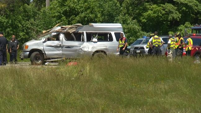 Rollover on I-95 south in Attleboro leaves one dead, several
