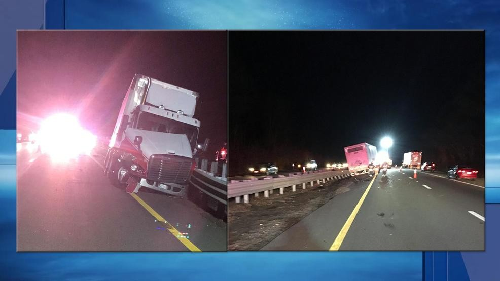 Tractor-trailer crash causes traffic jam on Route 24 | WJAR